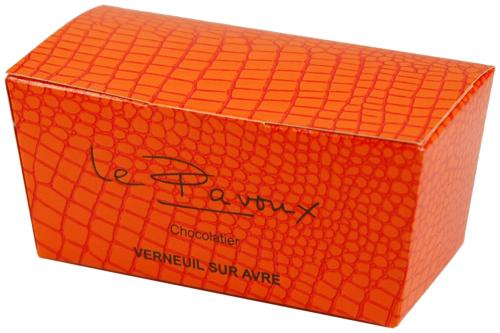 "116 ""croco orange"", ballotin languette 4356"