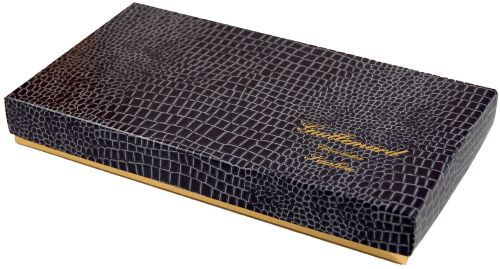 "103 ""croco acier"", boite rectangle 4338"