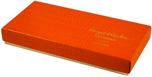 "113 ""croco mandarine"", boite rectangle 4338"