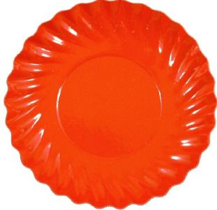 "2920 ""assiette orange ronde"""