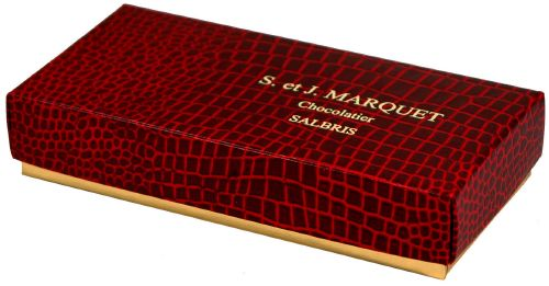 "112 "" croco rouge"", boite rectangle 4338"